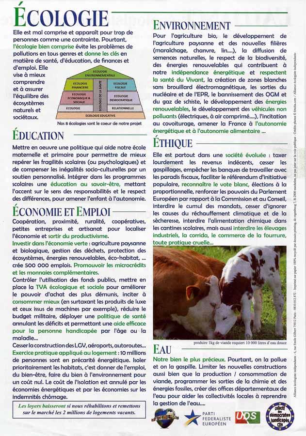 alliance écologie indépendante